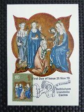 GB UK MK 1970 CHRISTMAS BETHLEHEM MAXIMUMKARTE CARTE MAXIMUM CARD MC CM c5072