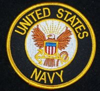 """US NAVY  """"UNITED STATES NAVY""""   PATCH  Iron / Sew-on Patch  3 inch patch"""