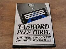 Spectrum +3 Disc. Tasword Plus Three. Tested working. Sinclair. Word Processor.