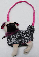 UN-USED PLUSH PUG PUPPY DOG PURSE~SHOULDER BAG~FURRY COUTURE~DOGGIE BAG~CUTE!