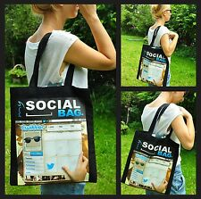 """Eco Friendly Tote Bag """"My Social Bag"""" - Twitter! Perfect Gift Idea! NEW!"""