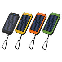 USA 50000mAh Solar Power Bank LED 2 USB Battery Charger For iPhone For Android