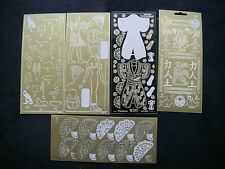JOBLOT 5 Sheets ORIENTAL Peel Offs Large Images Symbols SEE DETAILED PICTURES 8@