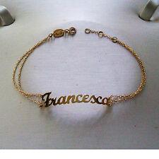 NOMISSIMO BRACCIALE Nome Francesca in Oro Giallo 18 Kt