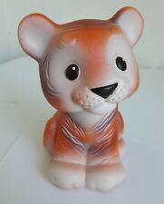 Vintage Soviet Ussr Rare Tiger cub Russian Rubber Tiger toy Ussuri tiger cub toy