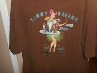 "Tommy Bahama ""Food Truck"" Special Delivery S/S Silk Brown Shirt XL Mint"