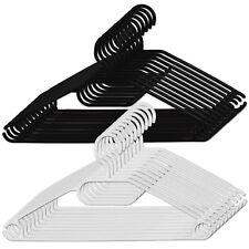 50 Stück Kleiderbügel schwarz oder weiß aus Kunststoff mit Hosenbügel drehbar