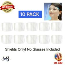 10Pcs PLASTIC FILM For REPLACEMENT only For Face Shield Clear Glasses Protector