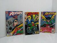 Robin Dc Comics Robin Lot Vintage Group (3) 1 2 And 3 1993