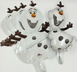 5 x 37cm Disney Frozen Olaf Happy Birthday Party Foil Balloon Air Fill Job Lot