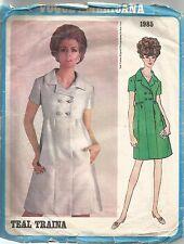 Vogue Designer Sewing Pattern 1985, Teal Traina, Vintage Dress, Size 16