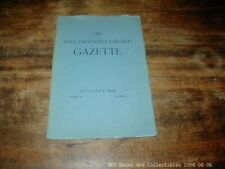 The Yale University Library Gazette Oct 1934 Japanese Culture FREE US SHIPPING