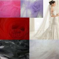 1 Yard Nylon Embroidery Mesh Wedding Skirt Dress Fabric Cloth DIY Sewing Craft