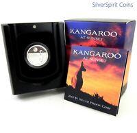 2012 KANGAROO AT SUNSET Silver Proof Coin