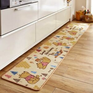 DISNEY Winnie the Pooh Kitchen Room Mat Rug Small Carpet Anti-Slip Japan E5860