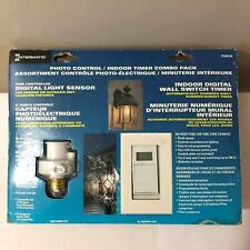 NEW SEALED INTERMATIC PHOTO CONTROL OUTDOOR / INDOOR TIMER COMBO PACK PD4D146