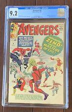 AVENGERS #6 comic book from 1964 in CGC NM- 9.2..THOR, HULK, & IRON MAN story!