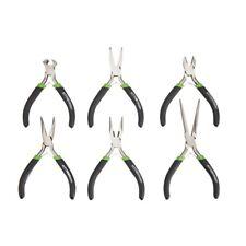 6 Pc Mini Pliers Set Precision Pliers Linesman Bent Needle Nose Pliers Diagonal