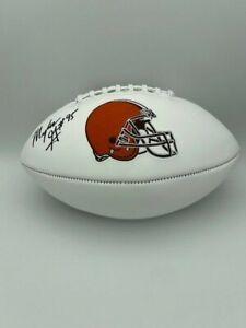 Myles Garrett Signed Cleveland Brown White Panel Full Size Football COA Hologram