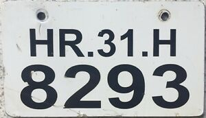 GENUINE India Haryana Motorcycle Number License Licence Plate HR.31.H 8293