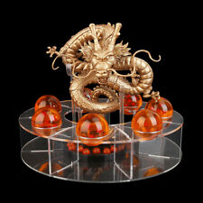 DRAGON BALL SHENRON GOLDEN FIGURE + 7 BOLAS DE DRAGON + EXHIBITOR, DORADO