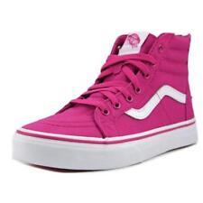 Baskets décontractées rose avec zip pour fille de 2 à 16 ans