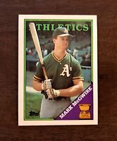 1988 Topps Mark McGwire Oakland Athletics #580 Baseball Card All-Star Rookie