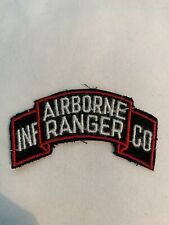 US Army Airborne Ranger Infantry Company Scroll Tab Patch