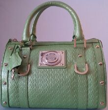 *NEW* VERSACE WOVEN LEATHER DOCTOR HANDBAG SATCHEL MINT GREEN MADE IN ITALY