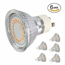6 Pack 3W LED Bulbs, MR16 GU10, 50W Halogen Bulbs Equivalent, 350lm, Warm White