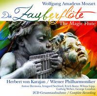 CD Mozart Die Zauberflöte The Magic Flute 2CDs mit Herbert von Karajan