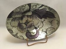 Contemporary Oval Dish - Modern Floral Pattern