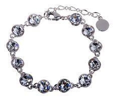 Swarovski Elements Crystal Brilliance Tennis Bracelet Rhodium Authentic 7101y