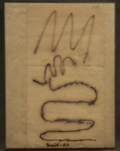 """Abstract Drawing """"Snaking Lines"""" signed Rolph Scarlett (AMERICAN, 1889-1984)"""
