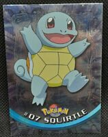 POKÉMON~TOPPS~#07 SQUIRTLE~LIGHT PLAYED- ~ITALIANO~FOIL