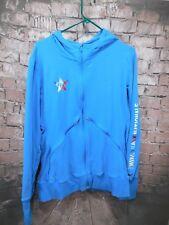 NIKE Blue Damen Long Sleeve Hoodie Size XL 380523-489 2011 Track Nationals Blue