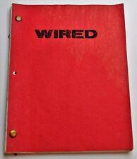 WIRED / Earl Mac Rauch 1988 Screenplay, ghost of John Belushi Biography Film
