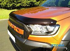 Ford Ranger T6 2016 on Wildtrak EGR Bonnet Guard Protector Bug Shield Dark Smoke