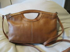 Fossil ~ Light Brown Soft Leather Cross Body Handbag Purse Clutch 75082 ~ NICE!!