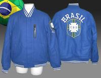 NEW NIKE  BRAZIL BRASIL Football  NSW Destroyer VARSITY Bomber Jackets Blue M