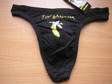 MEN`S NOVELTY BLACK TOP BANANA THONG/UNDERWEAR SMALL BRAND NEW!