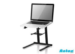 L1 Laptop Stand DJ Producer Foldable Solid Steel Black Lightweight shelf dvs