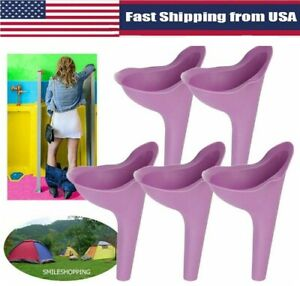 2PCS Portable Female Ladies Urinal Funnel Pee Device Camping Travel Toilet Stand