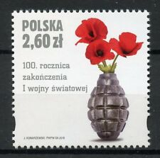 Poland 2018 MNH WWI WW1 End of World War I 1v Set Poppies Military Stamps