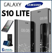 For SAMSUNG GALAXY S10 LITE CLEAR VIEW FLIP CASE SMART BOOK MIRROR LUXURY COVER