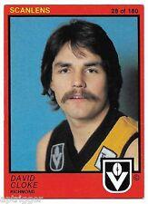 1982 Scanlens (28) David CLOKE Richmond ++++