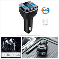 Portable Car LED Real-time GPS Tracker Device 2USB Charger Voltage Detector Kit