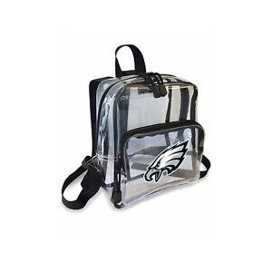 """Football Philadelphia Eagles Mini Clear Stadium Backpack 10"""" x 3"""" x 8"""" Licensed"""
