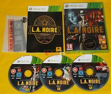 L.A. NOIRE XBOX 360 Versione Ufficiale Italiana 1ª Edizione LA L A •••• COMPLETO