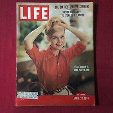 Life Magazine Aprill 22 1957 Carol Lynley 15 Busy Career Girl
